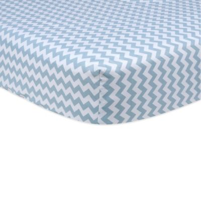 Trend Lab® Blue Sky Fitted Crib Sheet in Chevron