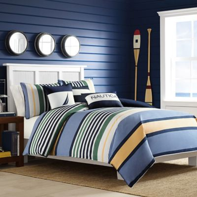 Nautica® Dover Twin Duvet Cover Set in Blue