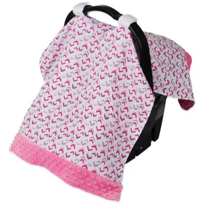 Itzy Ritzy® Cozy Happens Infant Car Seat Muslin Canopy in Pink