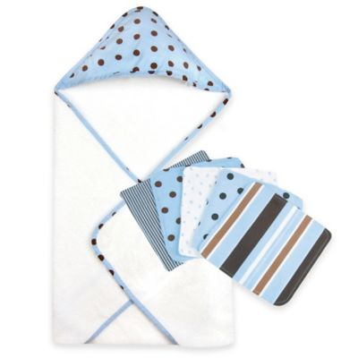 Trend Lab® Max Dot 6-Piece Hooded Towel and Washcloth Set