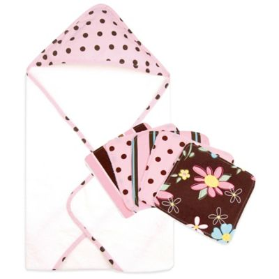 Trend Lab® Maya 6-Piece Hooded Towel and Washcloth Bouquet Set