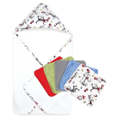 Dr. Seuss™ by Trend Lab® Cat in the Hat 6-Piece Hooded Towel and Washcloth Bouquet Set