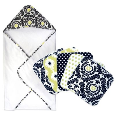 Waverly® Baby by Trend Lab® 6-Piece Rise and Shine Hooded Towel and Wash Cloth Bouquet Set