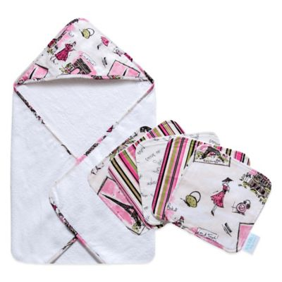 Waverly® Baby by Trend Lab® Trés Chic 6-Piece Hooded Towel and Washcloth Bouquet Set