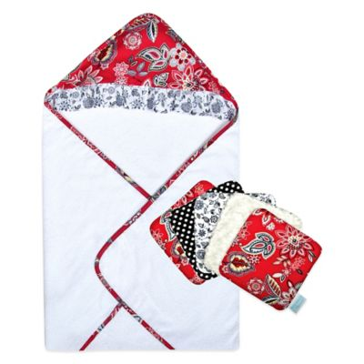 Waverly® Baby by Trend Lab® Charismatic 6-Piece Hooded Towel and Washcloth Bouquet Set