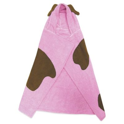 Trend Lab® Size 0-3T Puppy Hooded Towel in Pink