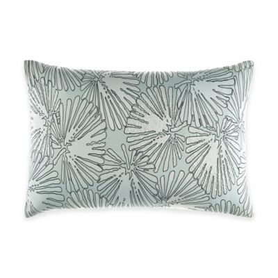 Catherine Malandrino Jade Outline Oblong Throw Pillow in Seafoam
