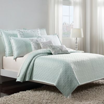 Catherine Malandrino Jade King Coverlet in Seafoam