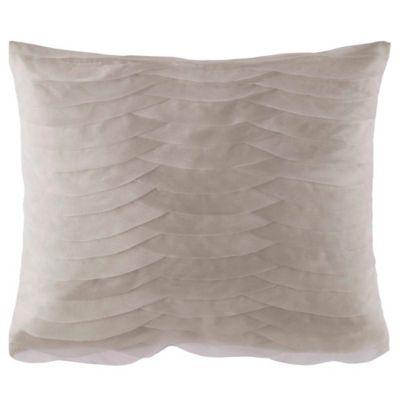 Catherine Malandrino Calais Floral Oblong Throw Pillow in Mocha