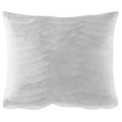 Catherine Malandrino Calais Floral Oblong Throw Pillow in Grey