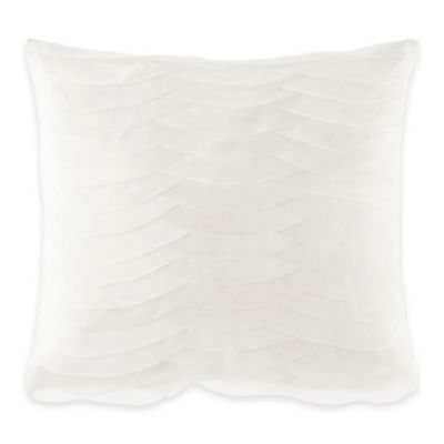 Catherine Malandrino Calais Floral Oblong Throw Pillow in Ivory
