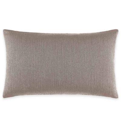 Catherine Malandrino Calais Stripe Oblong Throw Pillow in Mocha