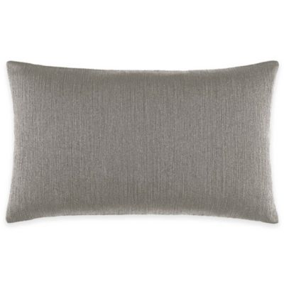 Catherine Malandrino Calais Stripe Oblong Throw Pillow in Grey