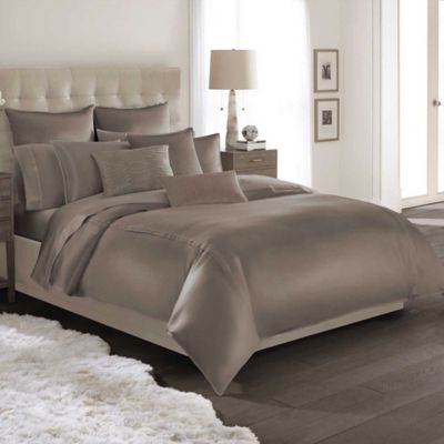 Catherine Malandrino Calais Reversible King Duvet Cover in Mocha