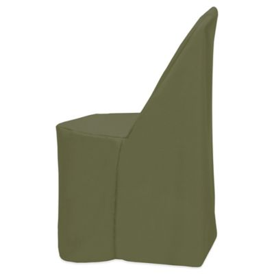 Basic Polyester Cover for Plastic Folding Chair in Olive