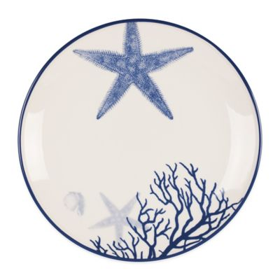 Everyday White® Coastal Starfish & Coral Salad Plate
