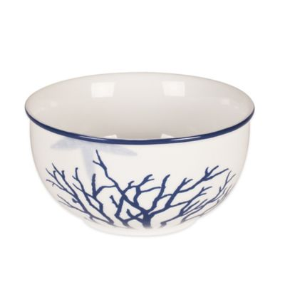 Everyday White® Coastal Starfish & Coral Soup Bowl