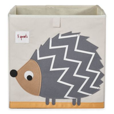 3 Sprouts Hedgehog Storage Box in Grey