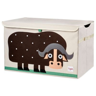3 Sprouts Buffalo Toy Chest in Brown