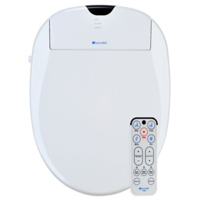 Brondell Swash 1000 Bidet Elongated Toilet Seat in Biscuit