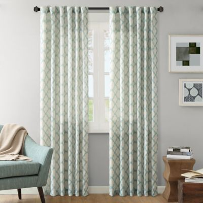 INK+IVY Nakita 84-Inch Linen Window Curtain Panel in Taupe