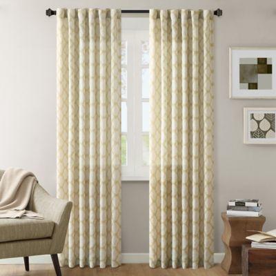 INK+IVY Nakita 84-Inch Linen Window Curtain Panel in Yellow