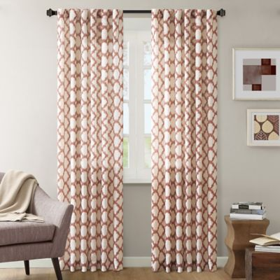 INK+IVY Nakita 84-Inch Linen Window Curtain Panel in Brick