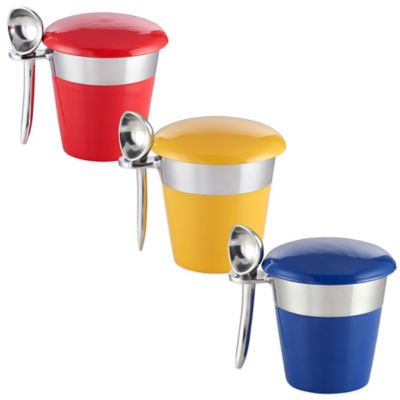 Lunares Luxe Casual Pint Ice Cream Server Set in Red