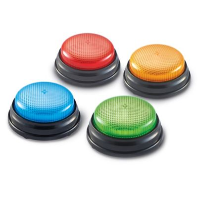 Learning Resources Lights and Sounds Answer Buzzers (Set of 4)