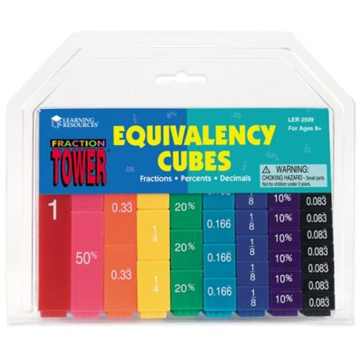 Learning Resources Fraction Tower® Equivalency Cubes Set