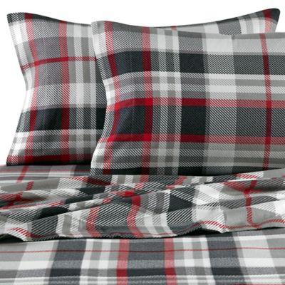 Grey Plaid Flannel Pillowcases