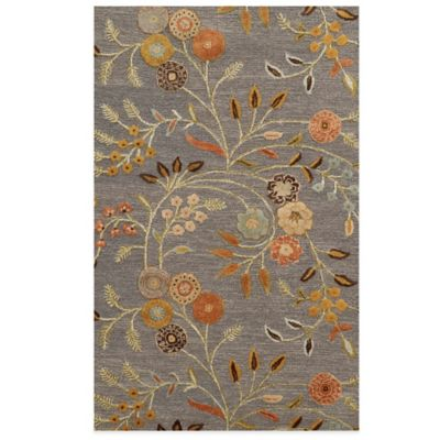 Rizzy Home Eden Harbor Floral 3-Foot x 5-Foot Area Rug in Grey