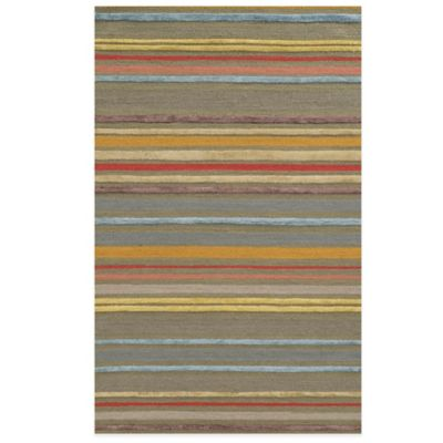 Rizzy Home Eden Harbor Stripes 3-Foot x 5-Foot Area Rug in Grey/Multi