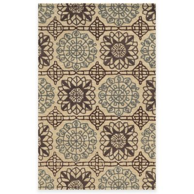 Rizzy Home Eden Harbor Medallion 2-Foot 6-Inch x 8-Foot Area Runner in Beige