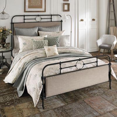 Beekman 1802 Minetto Reversible Queen Duvet Cover in Dove