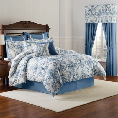 Williamsburg Randolph Full Comforter Set in Blue