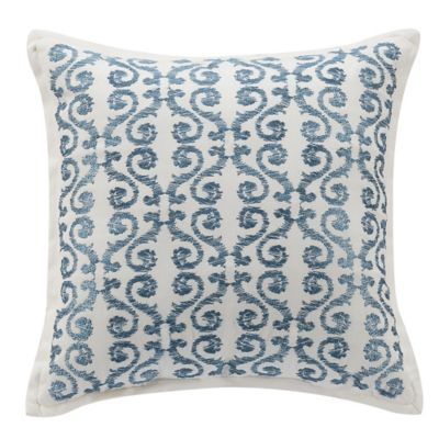 16-Inch Blue Square Pillow