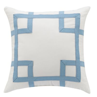 Williamsburg Randolph 20-Inch Square Throw Pillow in Blue