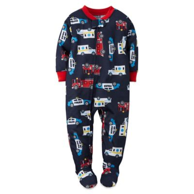 Carter's® Size 12M Rescue Squad Footed Pajama in Navy