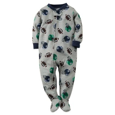 Carter's® Size 24M Football Fan Footed Pajama in Grey