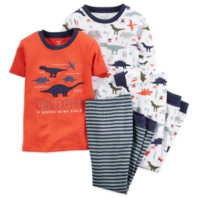 Carter's® Size 2T 4-Piece Dinosaur Pajama Set in Orange