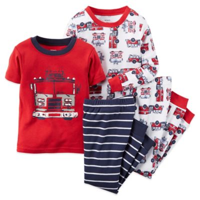 Carter's® Size 24M 4-Piece Fire Truck Pajama Set in Red