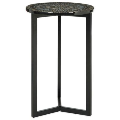 Safavieh Zaira End Table in Grey/White