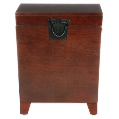 Southern Enterprises Pyramid Trunk End Table in Oak