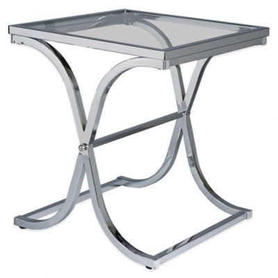 Southern Enterprises Vogue End Table in Chrome