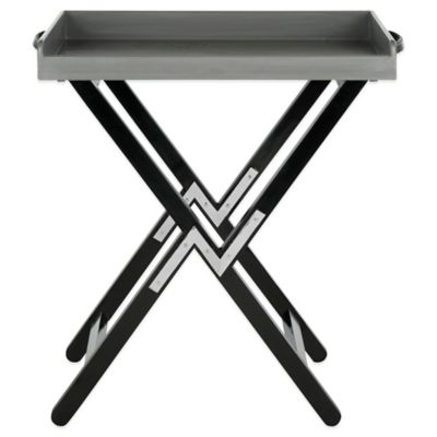 Smithers Tray Table in Grey/Black