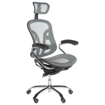 Jarlan Desk Chair in Grey
