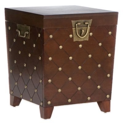 Nailhead End Table Trunk in Espresso