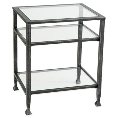 Metal End Table in Black