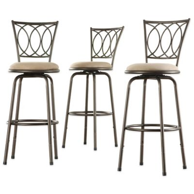 Verona Home Freemont Adjustable Swivel Barstool (Set of 3)